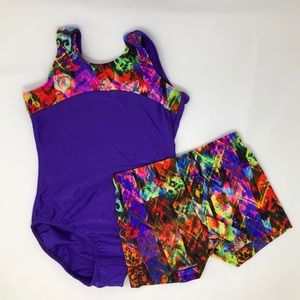 Other - NWT Reflectionz leotard short dance gymnastics